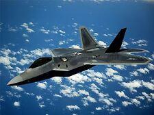 MILITARY AIR PLANE FIGHTER BOMBER JET F-22 RAPTOR POSTER ART PRINT BB972A
