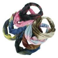 Boho Wide Stretch Women Lady Headband Turban Sports Yoga Hairband Hair Wrap Q8
