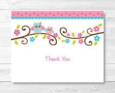Pink Owl Thank You Card Printable