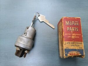 1940 1941 1942 1946 1947 1948 PLYMOUTH DODGE DESOTO CHRYSLER NOS IGNITION SWITCH