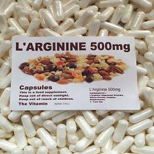"""L'ARGININE 500mg  360 Capsules    """"FREE POSTAGE""""  (L)"""
