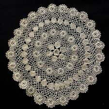 "New listing Vintage Gorgeous Elaborate Gorgeous Irish Crochet Lace Light Ecru 9"" across"