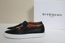 sz 10.5 / 41 Givenchy Black Leather Bambi Disney Skate Slides Slip on Flat Shoes