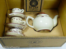 Boyds Bears Bearwear F.O.B Mini Tea Set Teapot & cups Member ship gift Nib
