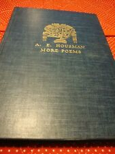 A.E. HOUSMAN~MORE POEMS~1936~Alfred A. Knopf HC Publisher Alfred A. Knoff     N8