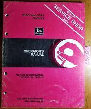 John Deere 2150 2255 Tractors Owner's Operator's Manual Om-L39646 B5 2/85