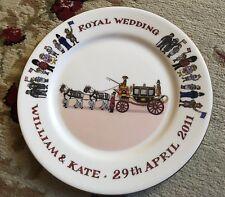 Rare William & Kate Royal Wedding Fine Bone China Plate Hudson Middleton Harrods
