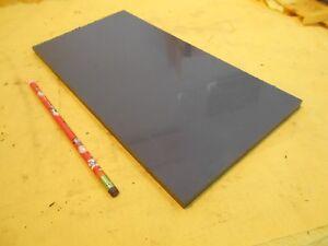 "GRAY PVC BAR  machinable plastic flat sheet stock 3/8"" x 6"" x 12"" OAL"