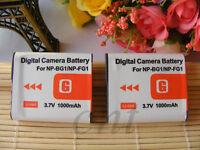 2 NP-BG1 Battery Pack  for SONY Cyber-Shot DSC-H50 DSC-H7 DSC-H70 DSC-H9