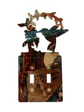 Lodge Rustic Decor Humming Bird Double Wall Outlet Plug Plate Covers Log Cabin