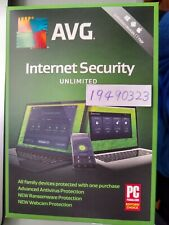 AVG  Internet Security  Unlimited Devices 1 Year Physical key card