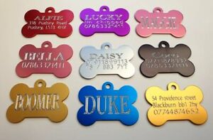 Engraved Personalised Pet Id Tag,Dog Identification Tags,deep engraving,dog Tags