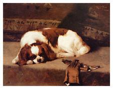 CAVALIER KING CHARLES ENGLISH TOY SPANIEL DOG ART PRINT - by Frederic Hall