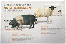 Rhönschaf und Deutsches Sattelschwein – postfrisch – Mi.Nr. Block 81 (3261-3262)