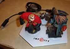 XBOX 360 Disney Infinity Portal de alimentación de 1.0 + el señor increíble Davy Jones Figuras + prt