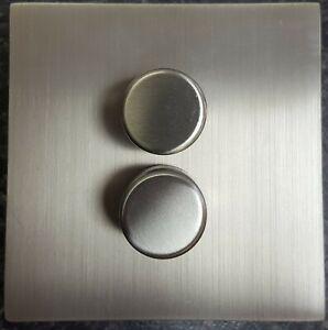 Hamilton 74 range CFX Screwless 1G 2G 400w Satin Steel Dimmer Switch Clearence