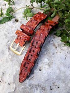 Uhrenarmband 24 mm ALLIGATOR Hornback Krokodil individuelle Handarbeit