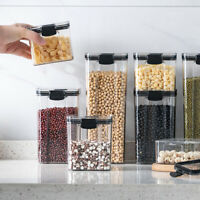 Plastic Dry Dried Food Cereal Pasta Storage Dispenser Container Box 460-1800ml