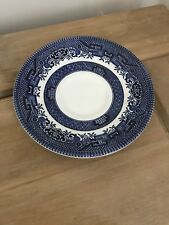 Woods Ware Blue & White Willow Pattern Saucer