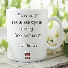 Funny Novelty Mugs Nutella Cafe Office Work Coffee Cup Birthday Gift WSDMUG186