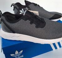 adidas ZX Flux ADV Asymmetrical Running Trainers S79054 Black White BNIB UK 9.5