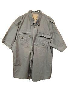 Cabela's Mens XL Tall Safari Series Teal Green Short Sleeve Shirt  Outdoor