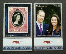 2012 Malaysia QE II Diamond Jubilee Prince William & Kate Royal Visit 2v (POS)