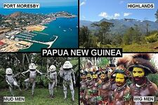 SOUVENIR FRIDGE MAGNET of PAPUA NEW GUINEA