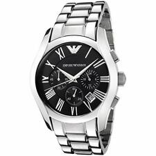 100% New Emporio Armani AR0673 Chronograph Black Dial Stainless Steel Mens Watch