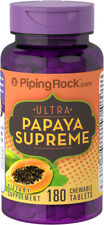 Piping Rock Ultra Papaya Enzyme Supreme 180 Chewable Tablets