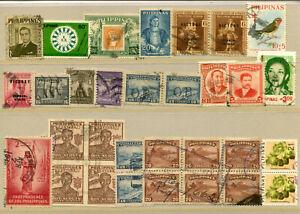 BR59 Philippines 31v used Stamp on Stamp Birds Monument Bridge