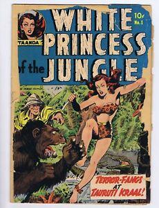 White Princess of the Jungle #1 (PR) 1951 Avon Kinstler art Taanda (c#19796)