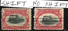Sc #295 Pair Color Shift High Train EFO Expo Cancel Pan Am 2 Cent US 37B42