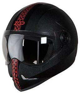Steelbird SB-50 Adonis Zap Dashing Black & Red With Plain Visor L Size 600mm ECs