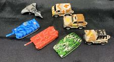 Military Lot Of 7 Micro Machines Tanks Jets Jeeps Ambulance Vehicles Figures