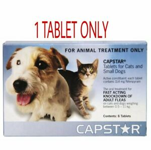 Capstar Flea Tablets Cats & Dogs 1kg -11kg One Tablet & Fast Dispatch Free Post