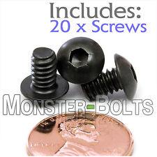 "#10-24 x 5/16"" - Qty 20 - BUTTON HEAD Socket Cap Screws  Alloy Steel Black Oxide"