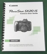 Canon PowerShot SX20 IS Instruction Manual: Comb Bound & Protective Covers!