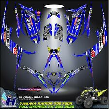 Yamaha Raptor 700 700R graphics kit 2013 2014 2017 to 2020 decals stickers atv