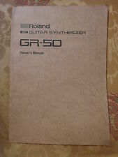 Roland GR-50 GUITAR SYNTHESIZER Original Owner's Manual VG+ condition