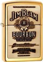 Zippo Jim Beam Brass Emblem Lighter 254BJB.929 **NEW**