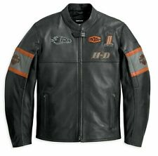 Harley Davidson Eagle Motorbike Jacket Screaming Biker Real Cowhide Leather Men