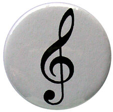 Treble Clef badge - 25mm (1 inch) music badges, piano, guitar instrument