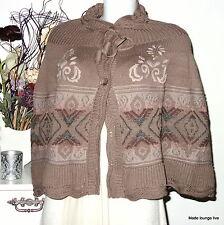 CREAM Wolle 630026 Poncho braun iron S M 36 38 BARBEL PONCHO Umhang Jacke brown