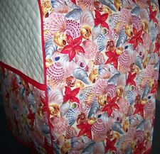 Beach Seashells Shells Quilted Fabric Cover for KitchenAid Mixer NEW