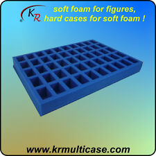 50 figure foam tray for Games Workshop army case - CARRY MORE WITH KR! (E-185)