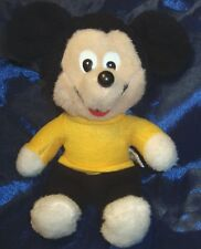 VINTAGE KNICKERBOCKER MICKEY MOUSE-1975-9 INCH-PLASTIC EYES&NOSE-GREAT CONDITION