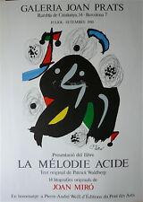 Joan Miro Affiche originale lithographie art abstrait abstraction