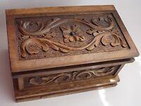 TURKISH PUZZLE MAGIC TRICK SECRET JEWELRY BOX CASE,WALNUT WOOD, PANDORA,HANDMADE