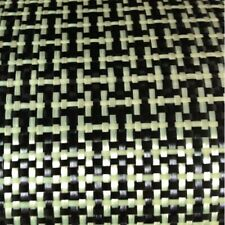 "Carbon Fiber/Yellow Kevla Cloth Fabric I Weave Plain 3K5.9oz/200gsm 40"" wide"